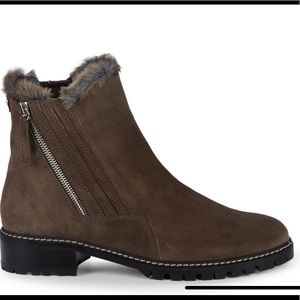 Stuart Weitzman Stormy Faux Fur-Trim Suede Boots